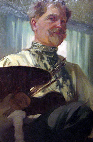 Alfons Mucha 1860 - 1939:  Self Portrait  1907. UlrichABB 2010 commons.wikimedia
